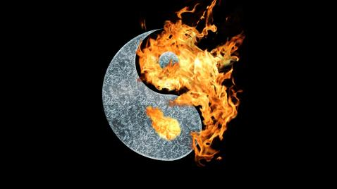yin yang fire and ice
